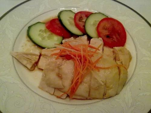 Hainanese Chicken Rice at St. Regis Hotel, Singapore