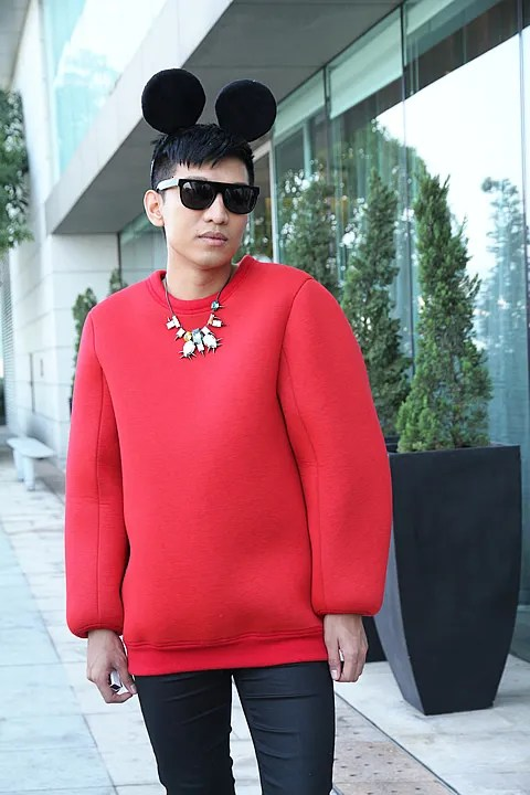 Bryanboy in Martin Margiela sweater