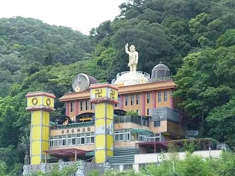 Swastika on Buddhist Temple, Taipei Taiwan