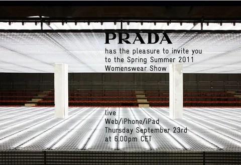 Prada Spring Summer 2011 Fashion Show Live