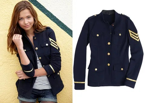 Navy Blue Sergeant Jacket