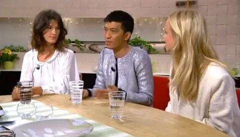 TV4 Nyhetsmorgon fashion bloggers Hanneli Mustaparta, Bryanboy, Elin Kling