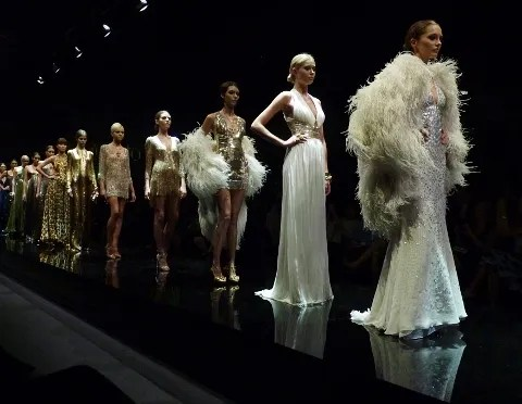 Vintage Roberto Cavalli at 2010 Audi Fashion Festival Singapore