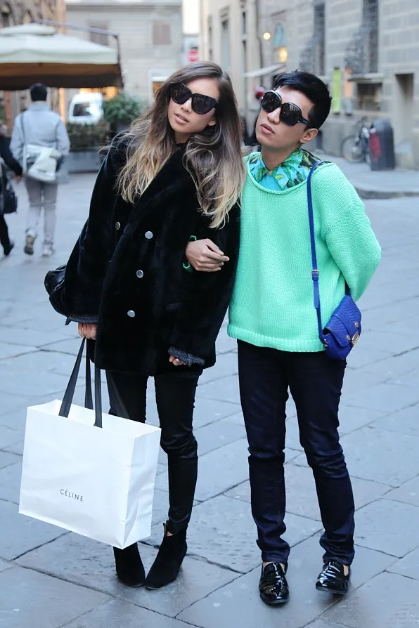 Rumi Neely shopped at Celine with Bryanboy in Florence
