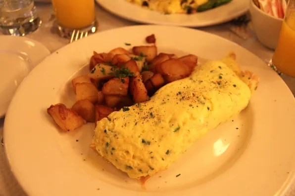 Omelette with Gruyere cheese and herbs at Balthazar, New York