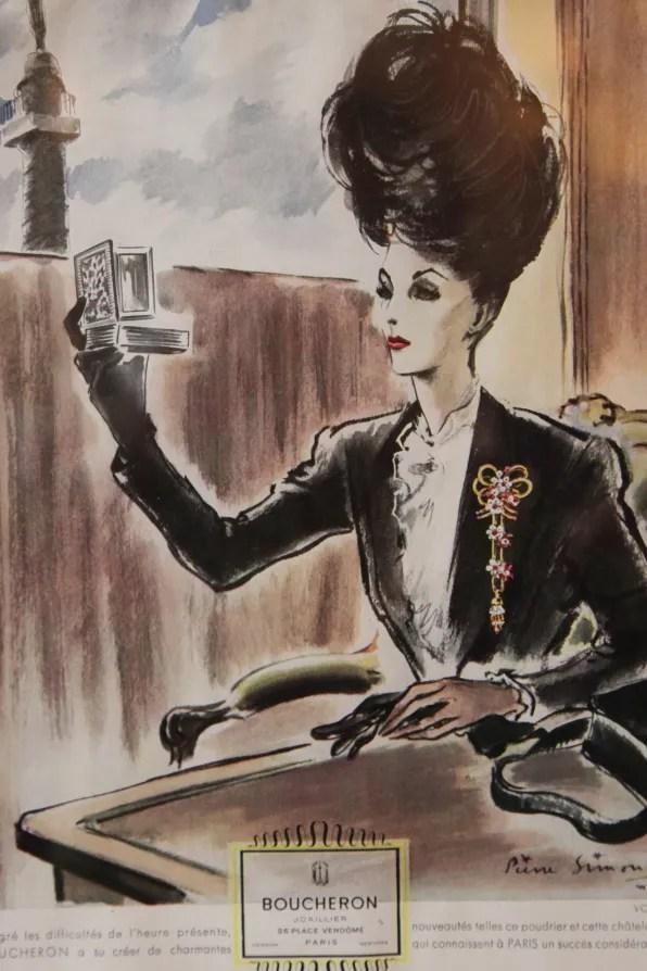 A vintage Boucheron ad campaign