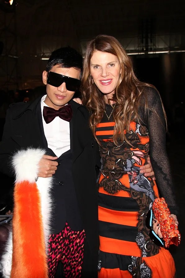 Bryanboy and Anna dello Russo in Prada