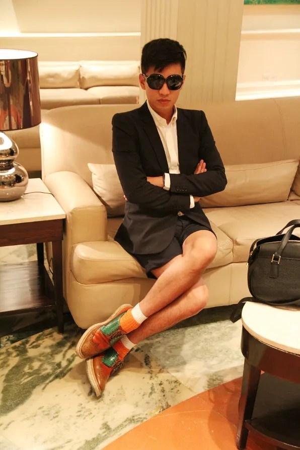 Fashion blogger Bryanboy at the Claridges hotel, New Delhi