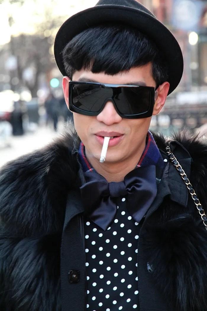Black Dolce & Gabbana fur coat