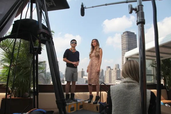 Bryanboy and Giuliana Rancic for E! Entertainment Television
