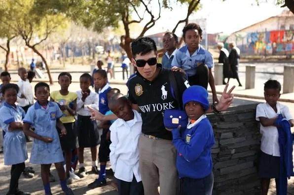 South African school children