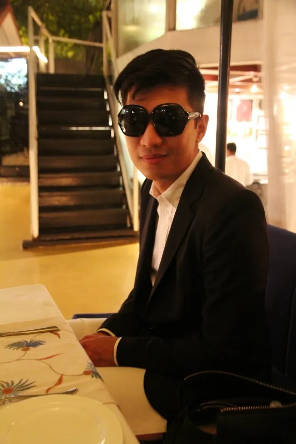 Bryanboy at Sevilla Restaurant, Claridges Hotel New Delhi, India