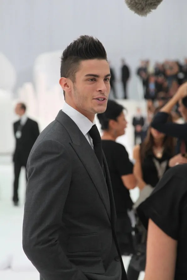 Baptiste Giabiconi at Chanel spring summer 2012 fashion show
