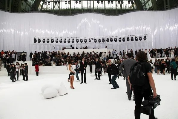 Photographer's pit at Chanel spring summer 2012 fashion show