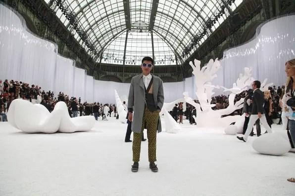 Grand Palais transformed into an aquarium for Chanel spring/summer 2012