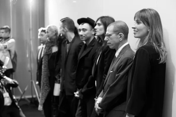 Nicola Formichetti, Kris Van Assche, Emmanuelle Alt and Jonathan Newhouse at Christian Dior Tokyo