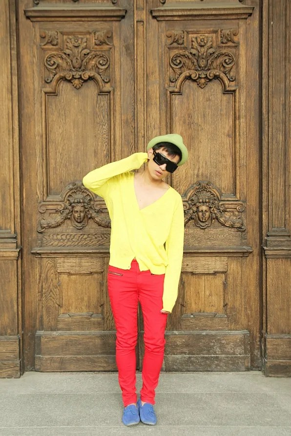 bryanboy in Stockholm, color blocking photo.