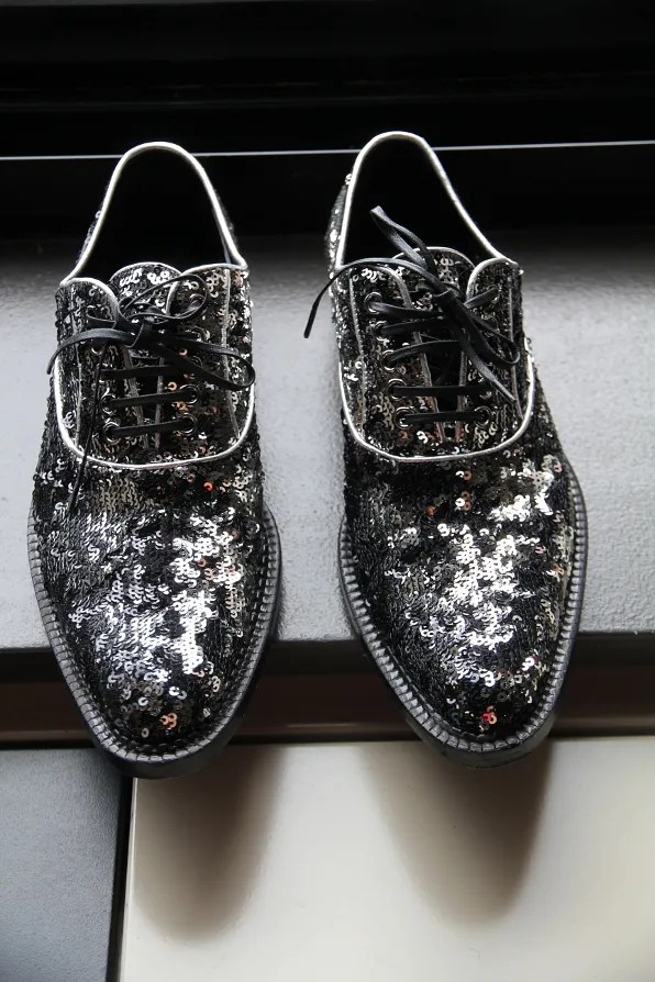 Sequined shoes from Dolce Gabbana fall/winter 2011 collection