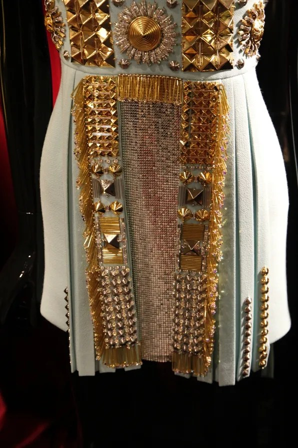 Fausto Puglisi fall winter 2011  dress with chainmail panel and studs