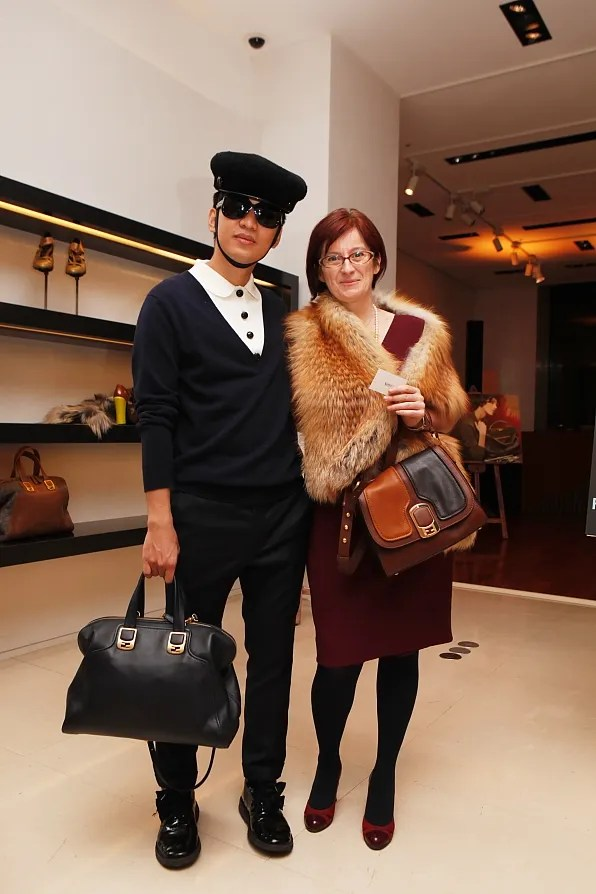 Bryanboy and Fendi Japan CEO Alessandra Bettari