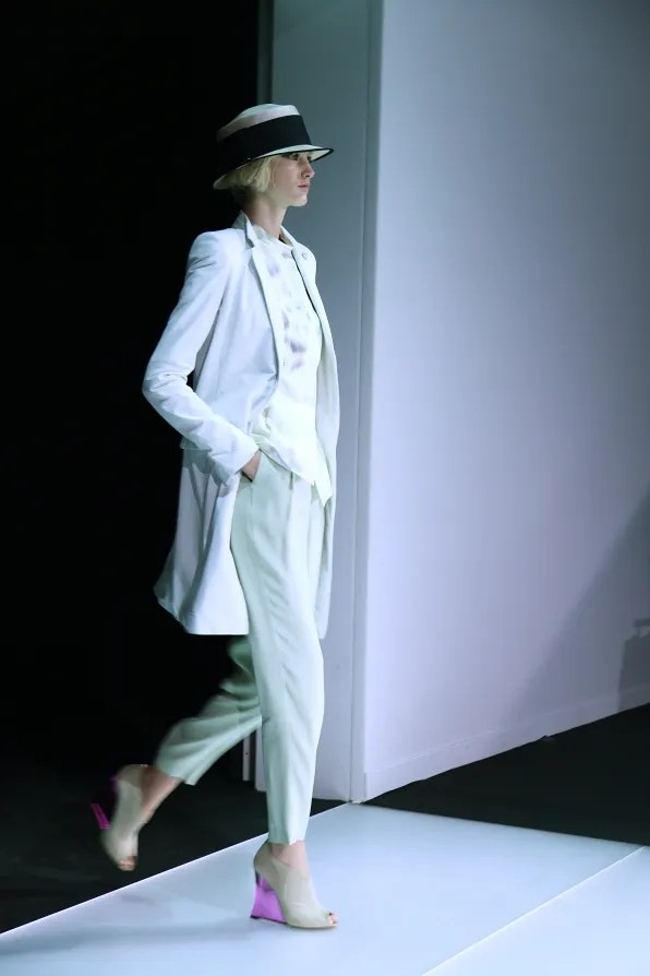 First Look - Emporio Armani Spring Summer 2012 - Look 1