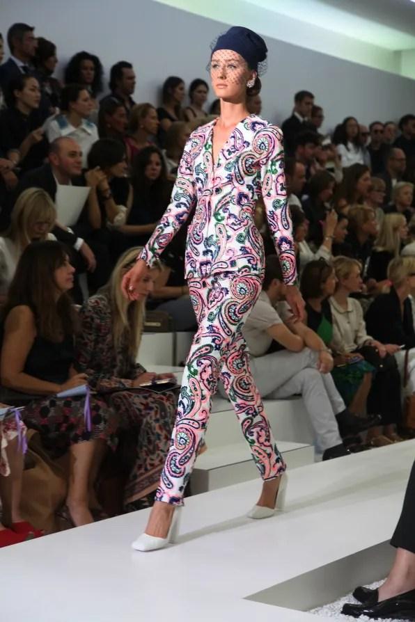 First Look - Jil Sander Spring Summer 2012: Floral pantsuit
