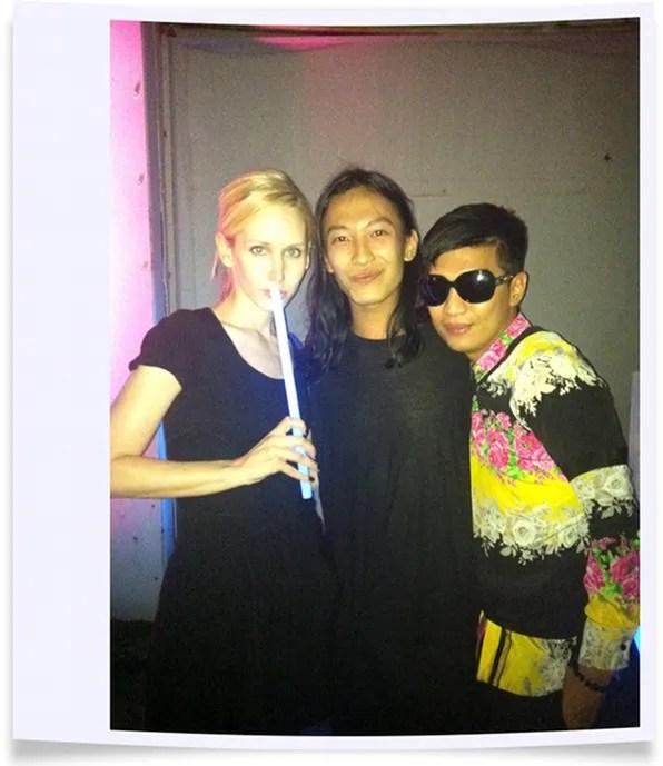 Jane Keltner de Valle, Alexander Wang, Bryanboy at Alexander Wang's Frat-themed after party