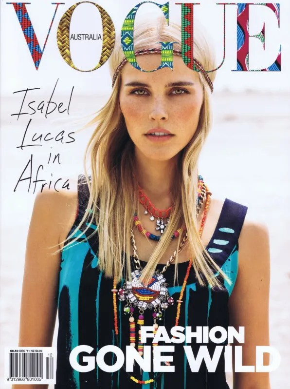 Isabel Lucas for Vogue Australia December 2011 cover