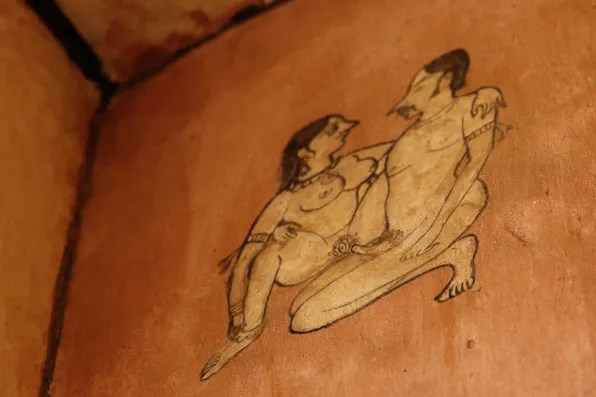 Kama Sutra wall painting in Jaipur