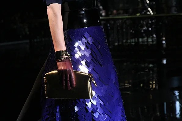Amber Valetta wore this Louis Vuitton skirt at the fall winter 2011 show