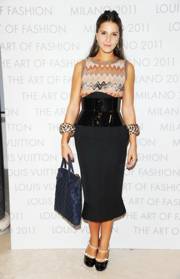 Margherita Missoni at Louis Vuitton Art of Fashion exhibit Milan