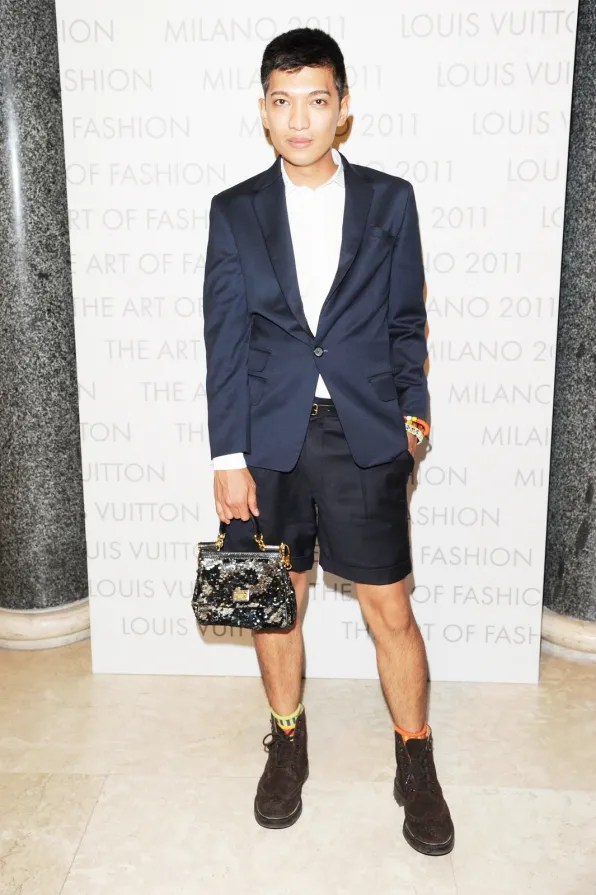 Bryanboy at Louis Vuitton Art of Fashion exhibit Milan