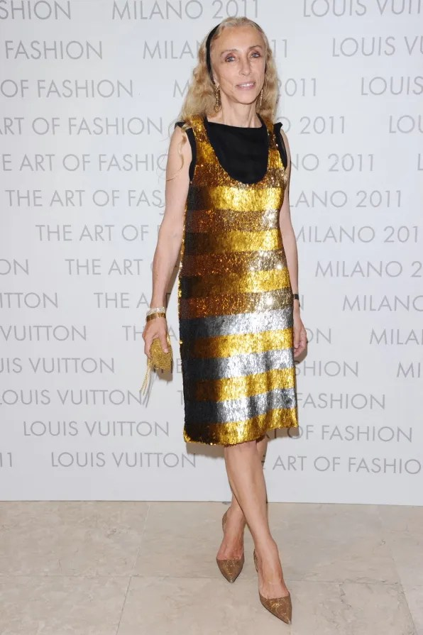 Franca Sozzani at Louis Vuitton Art of Fashion exhibit Milan