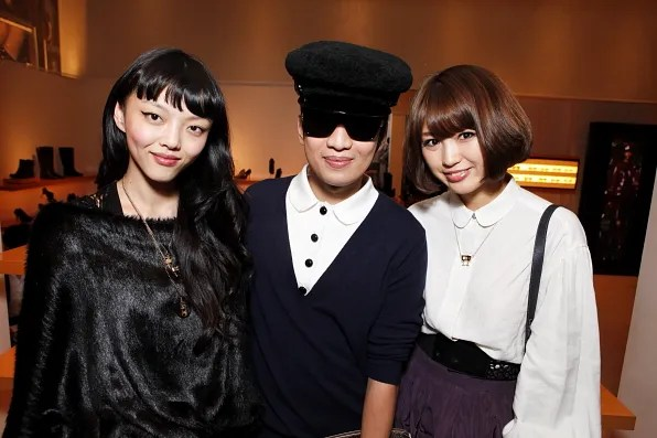 Bryanboy with Japanese Bloggers at the Louis Vuitton store Tokyo