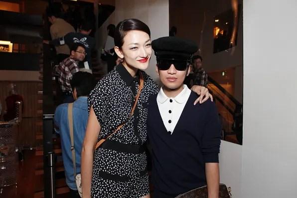 Bryanboy and Ai Tominaga at Louis Vuitton Tokyo