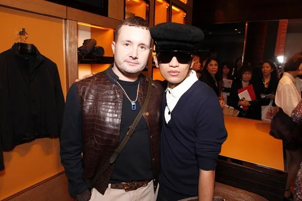 Kim Jones and Bryanboy at Louis Vuitton Omotesando Tokyo