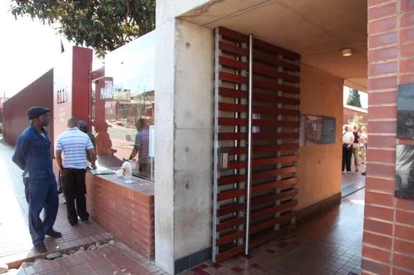 Entrance to Nelson Mandela's house
