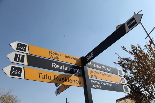 Street signage in Soweto