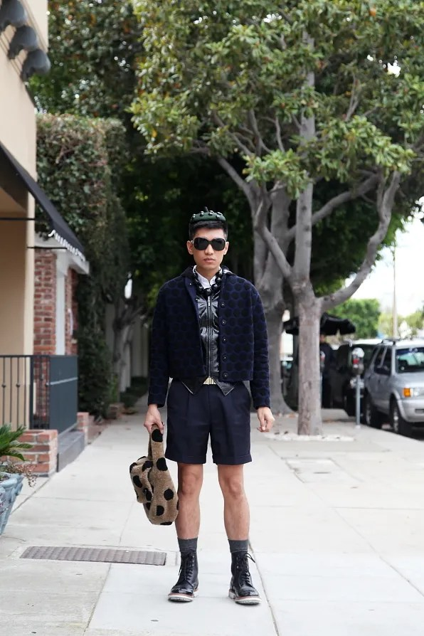 Bryanboy wearing Marc Jacobs Fall Winter 2011 polka dot look