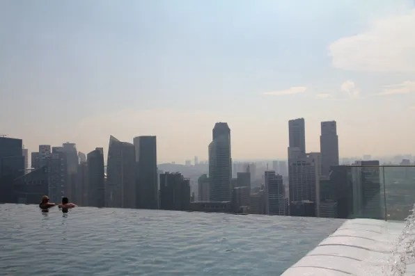 picture of Marina Bay Sands hotel Singapore swimming pool