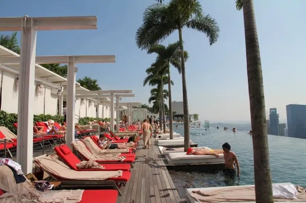 Marina Bay Sands hotel Singapore swimming pool
