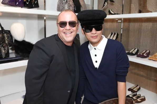 Michael Kors and Bryanboy at the Michael Kors store in Tokyo