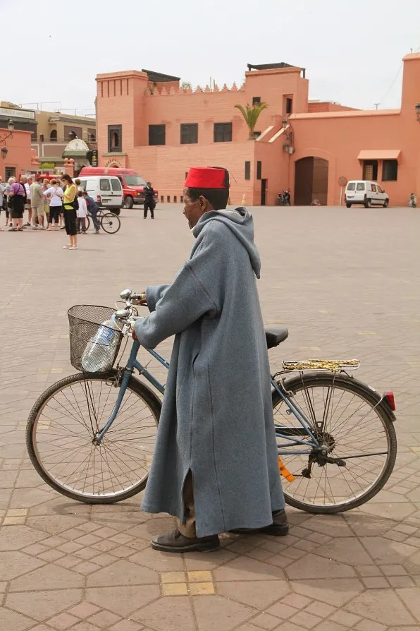 Moroccan man wearing a fez hat