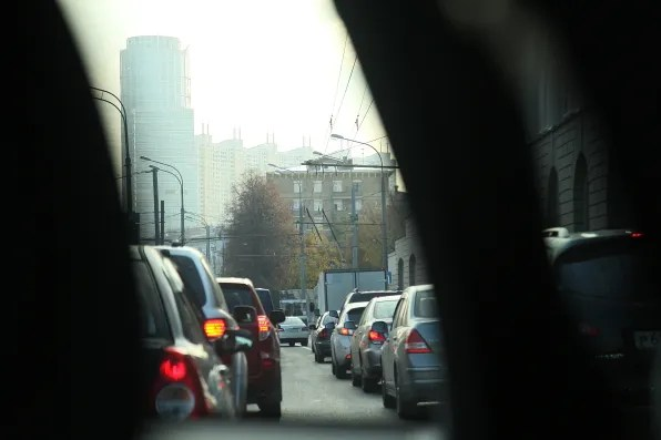 Horrendous Moscow traffic in the afternoon