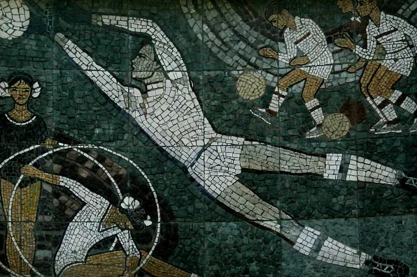 Football mosaic in Moscow