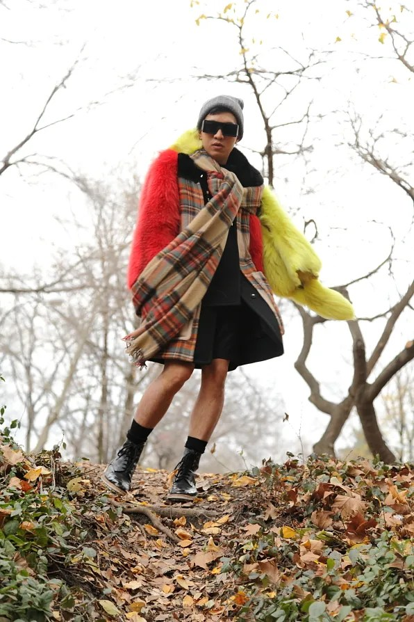 Bryanboy in Central Park, New York in December 2011