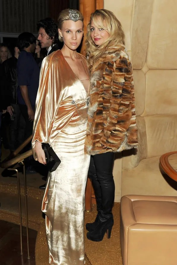 Brit Maren and Nicole Richie at the Top of the Standard Hotel 2011 Met Ball After Party