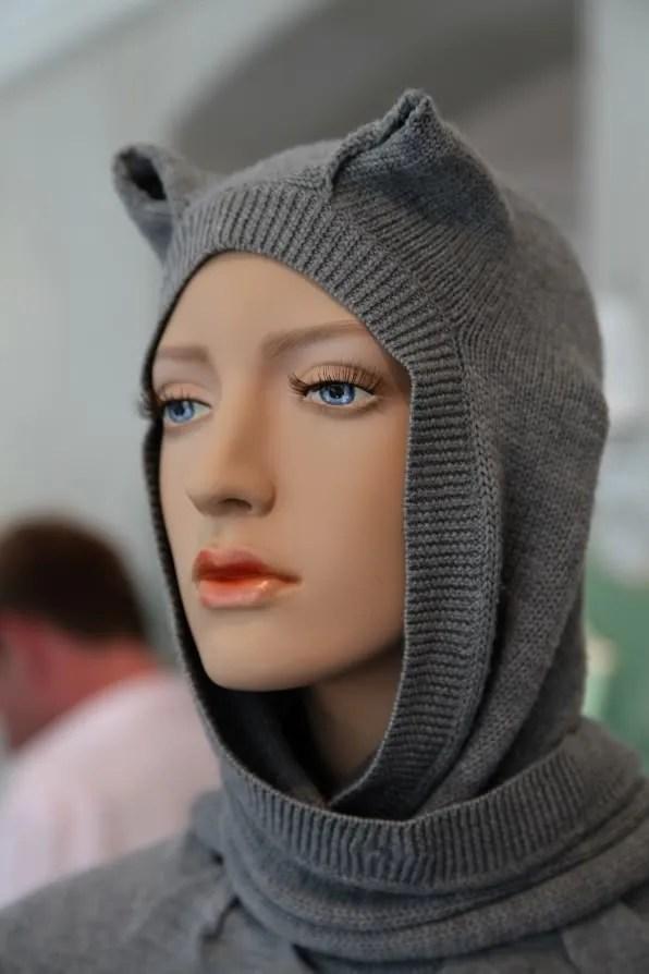 Peter Jensen 'Muses' Exhibition - cat hood