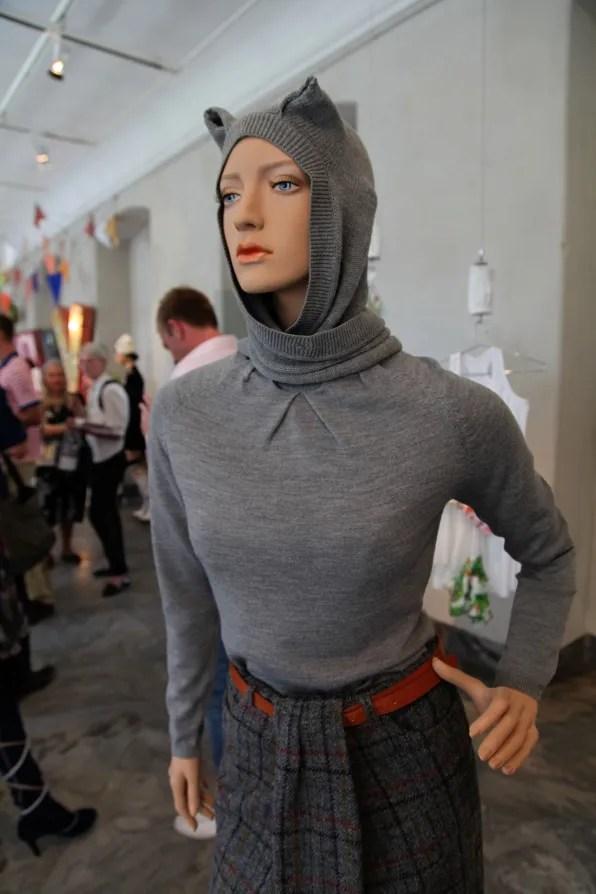 Peter Jensen 'Muses' Exhibition - cat hood sweater