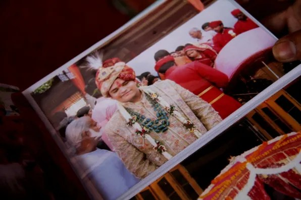 Indian groom at a wedding